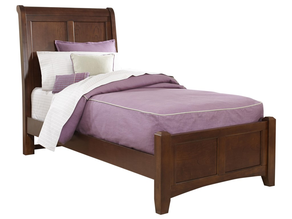 Vaughan Bassett BonanzaTwin Sleigh Bed with Low Profile Footboard