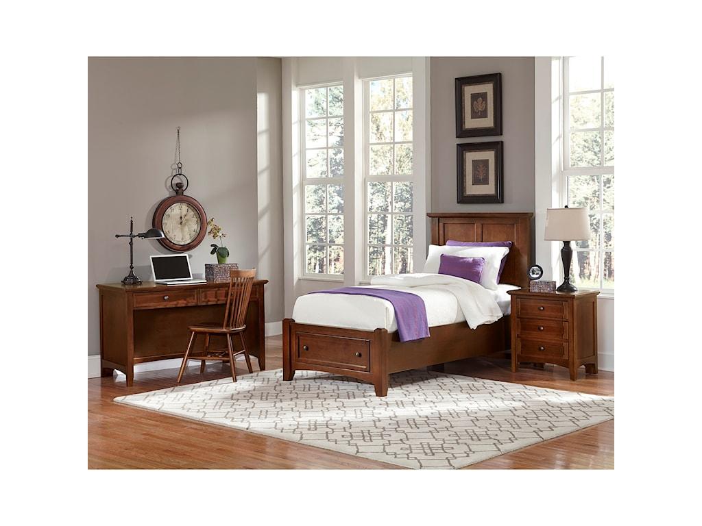 Vaughan Bassett BonanzaTwin Mansion Storage Bed