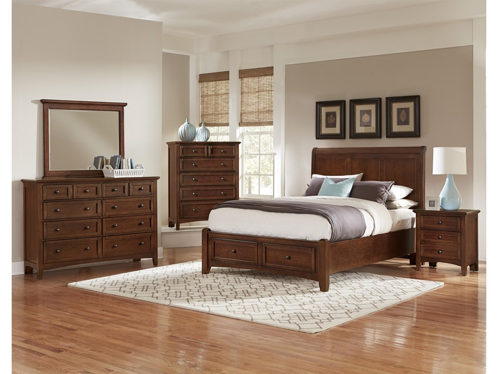 Vaughan Bassett BonanzaKing Sleigh Storage Bed