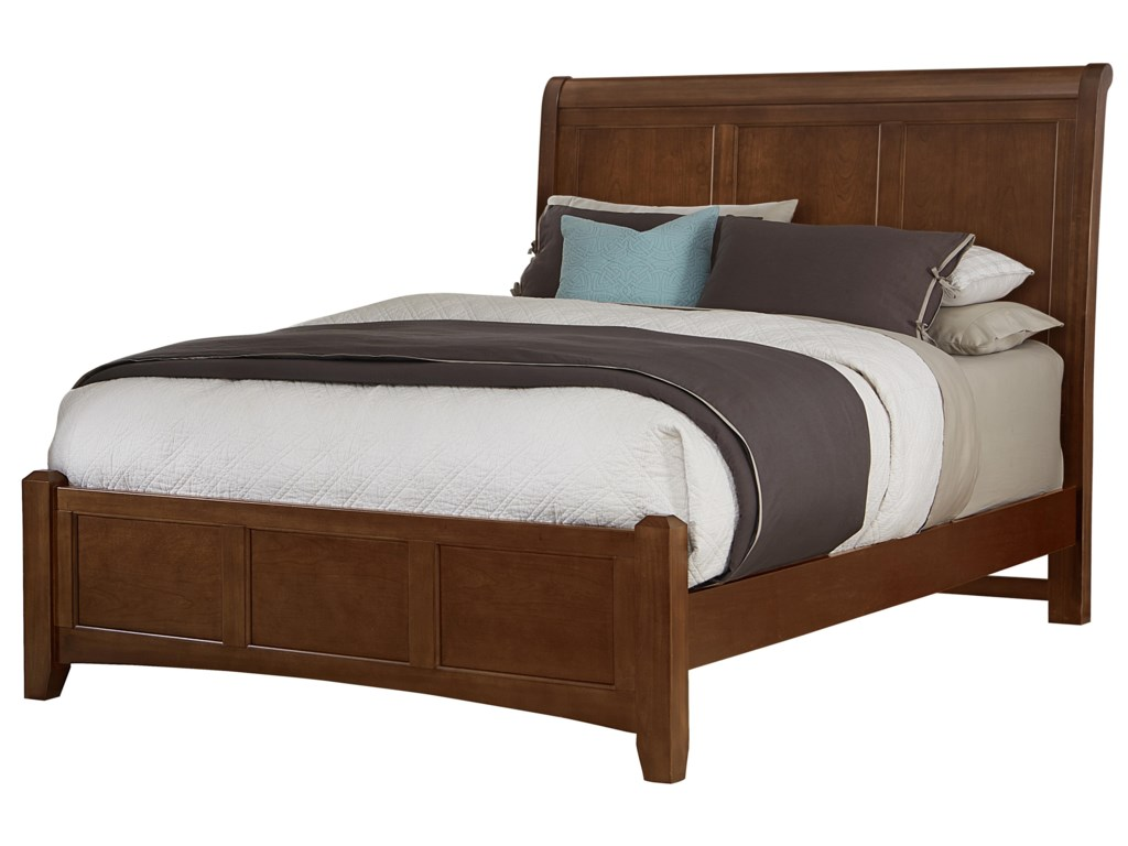 Vaughan Bassett BonanzaKing Sleigh Bed with Low Profile Footboard