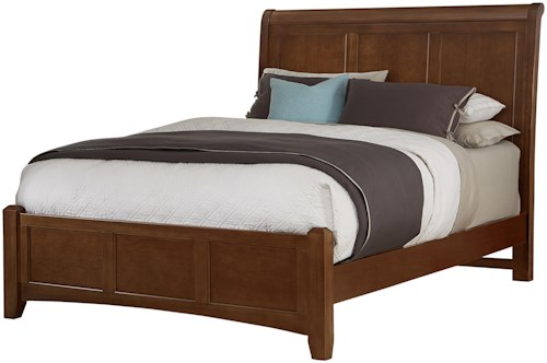 Vaughan Bassett Bonanza Full Sleigh Bed with Low Profile Footboard