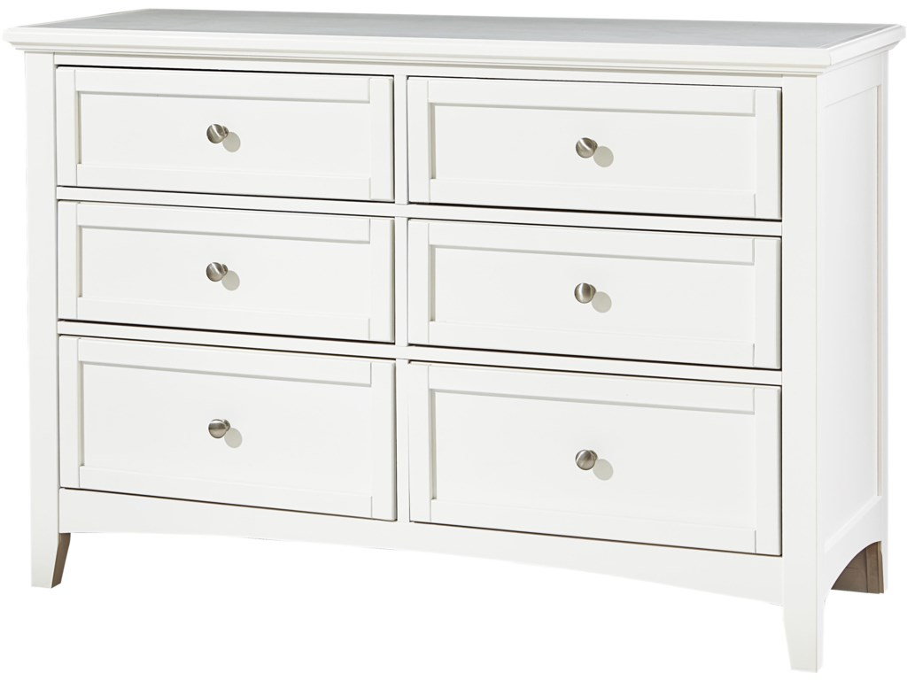 Vaughan Bassett BonanzaDouble Dresser - 6 Drawers