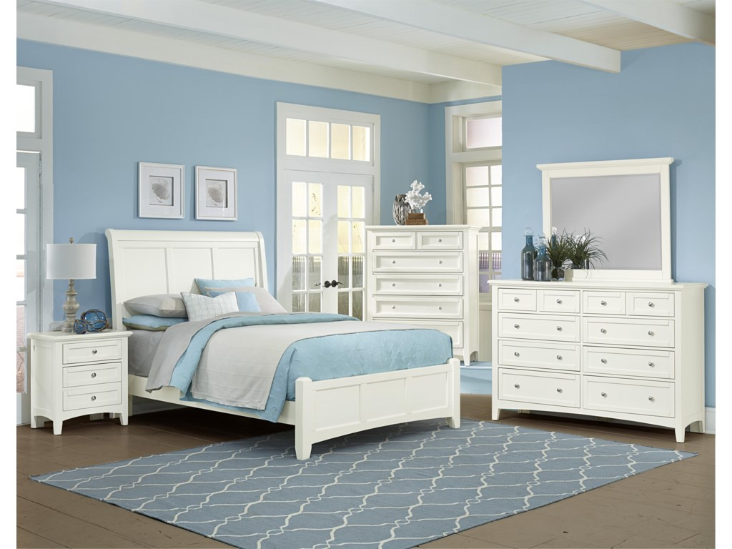 Vaughan Bassett BonanzaQueen Sleigh Bed with Low Profile Footboard