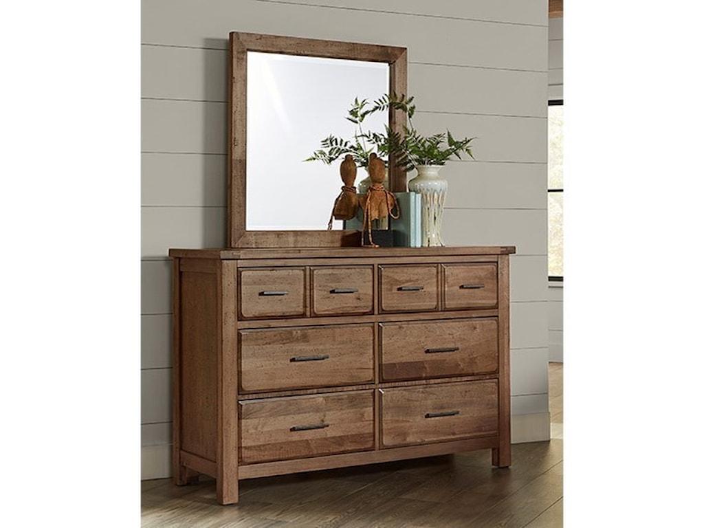 Vaughan Bassett Chestnut CreekDresser Mirror