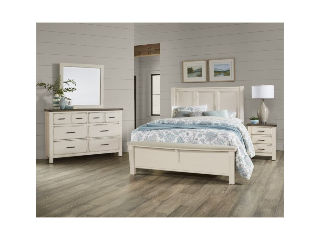 Vaughan Bassett Chestnut CreekQueen Bedroom Group