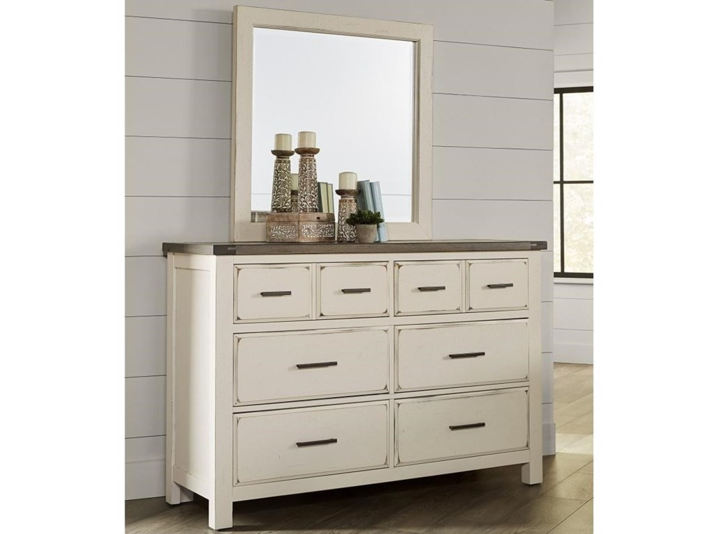 Vaughan Bassett Chestnut CreekDresser and Mirror Set