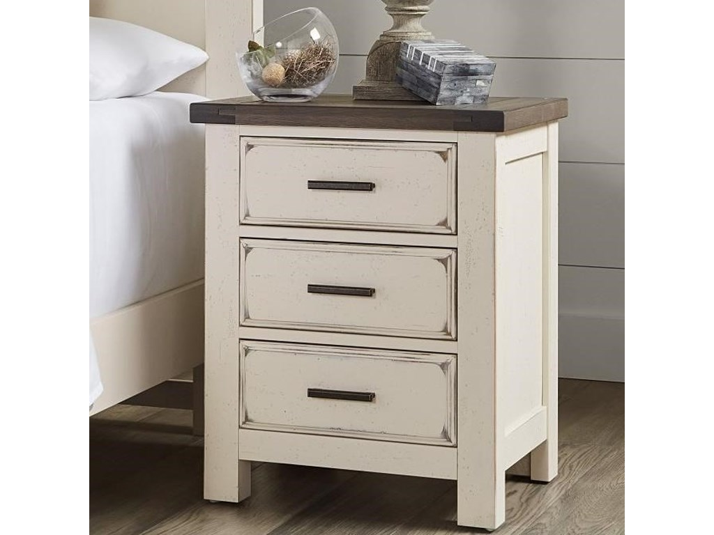 Vaughan Bassett Chestnut Creek3-Drawer Nightstand
