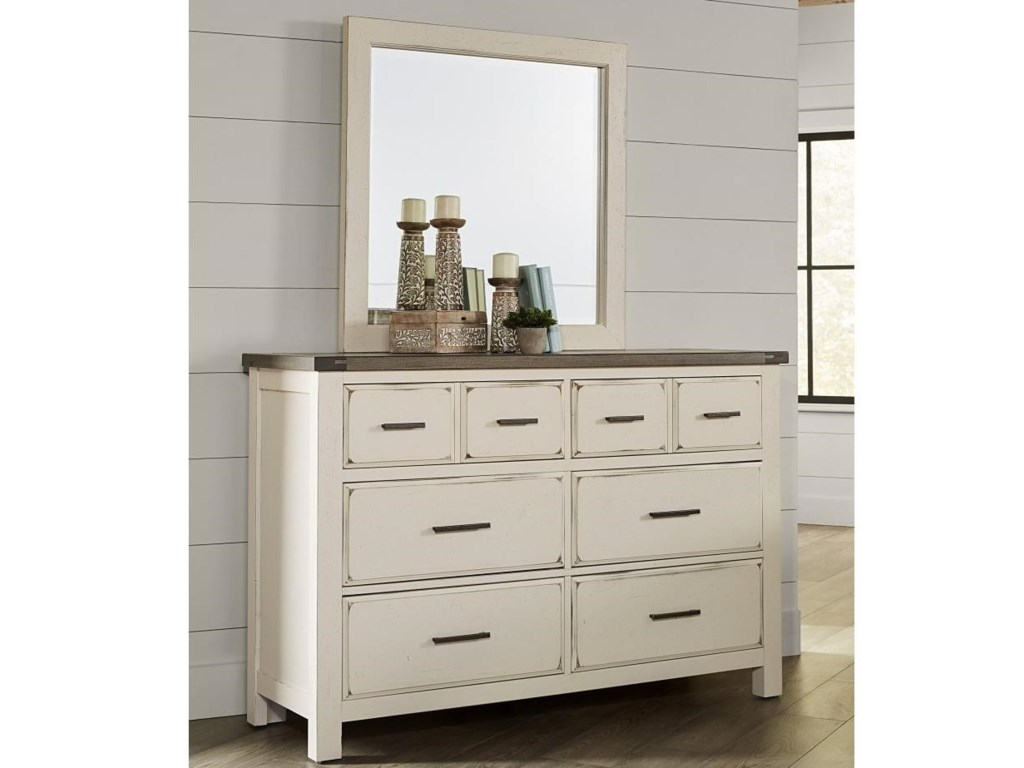 Vaughan Bassett Chestnut CreekDresser Mirror