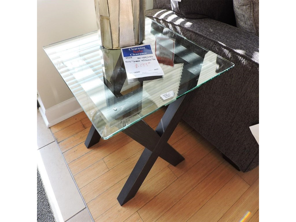 Vaughan Bassett ClearanceEnd Table With Glass Top