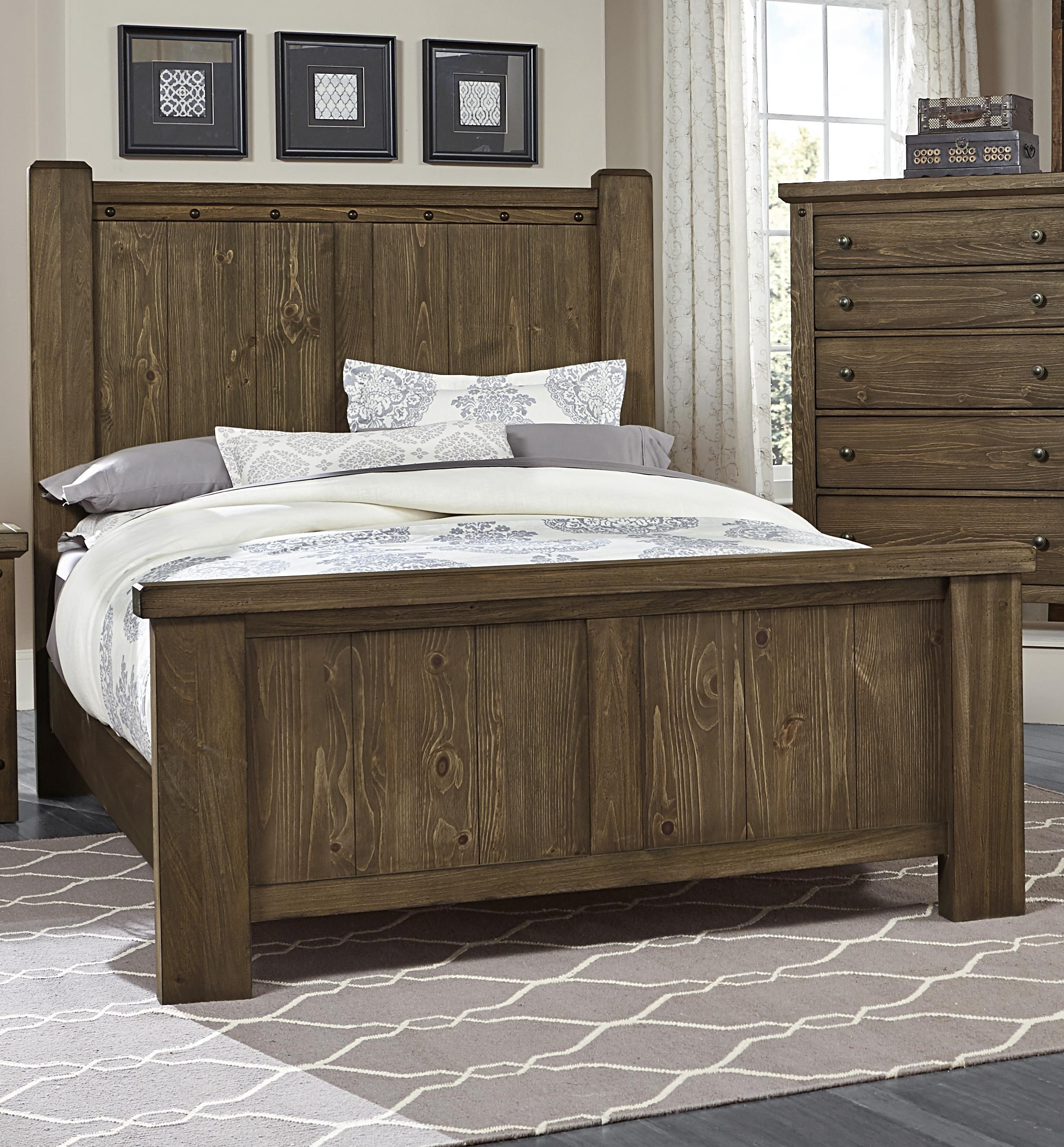 Rustic Queen Poster Bed Collaboration By Vaughan Bassett