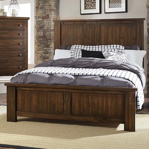 Vaughan Bassett Collaboration Rustic Queen Panel Bed