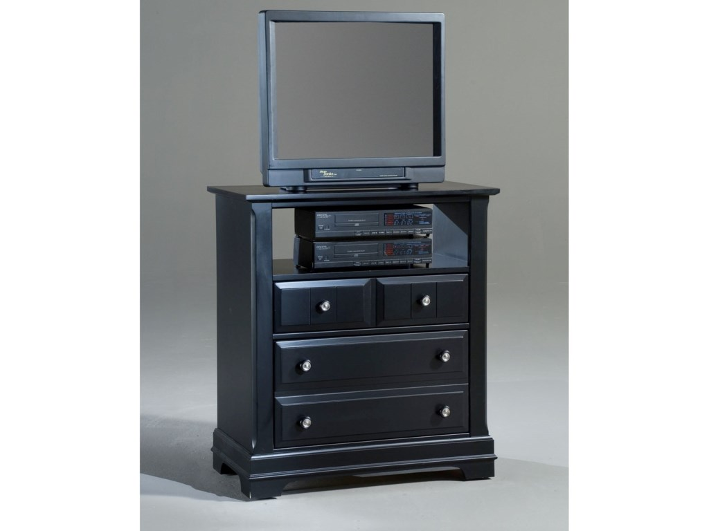 Vaughan Bassett CottageMedia Cabinet - 2 Drawers, Open Shelf
