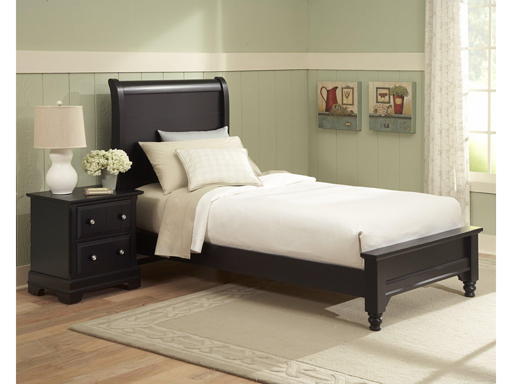 Vaughan Bassett CottageTwin Sleigh Bed w/ Low Footboard