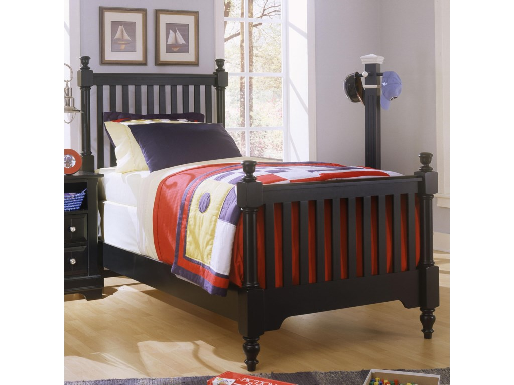 Vaughan Bassett CottageTwin Slat Poster Bed