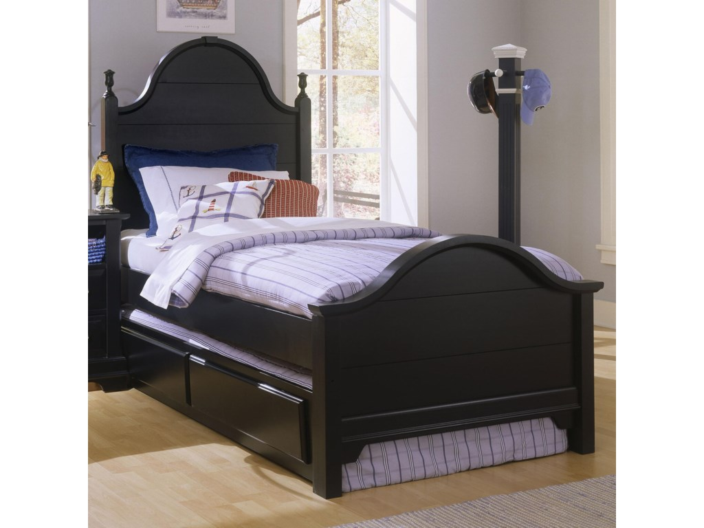 Vaughan Bassett CottageTwin Panel Bed with Trundle
