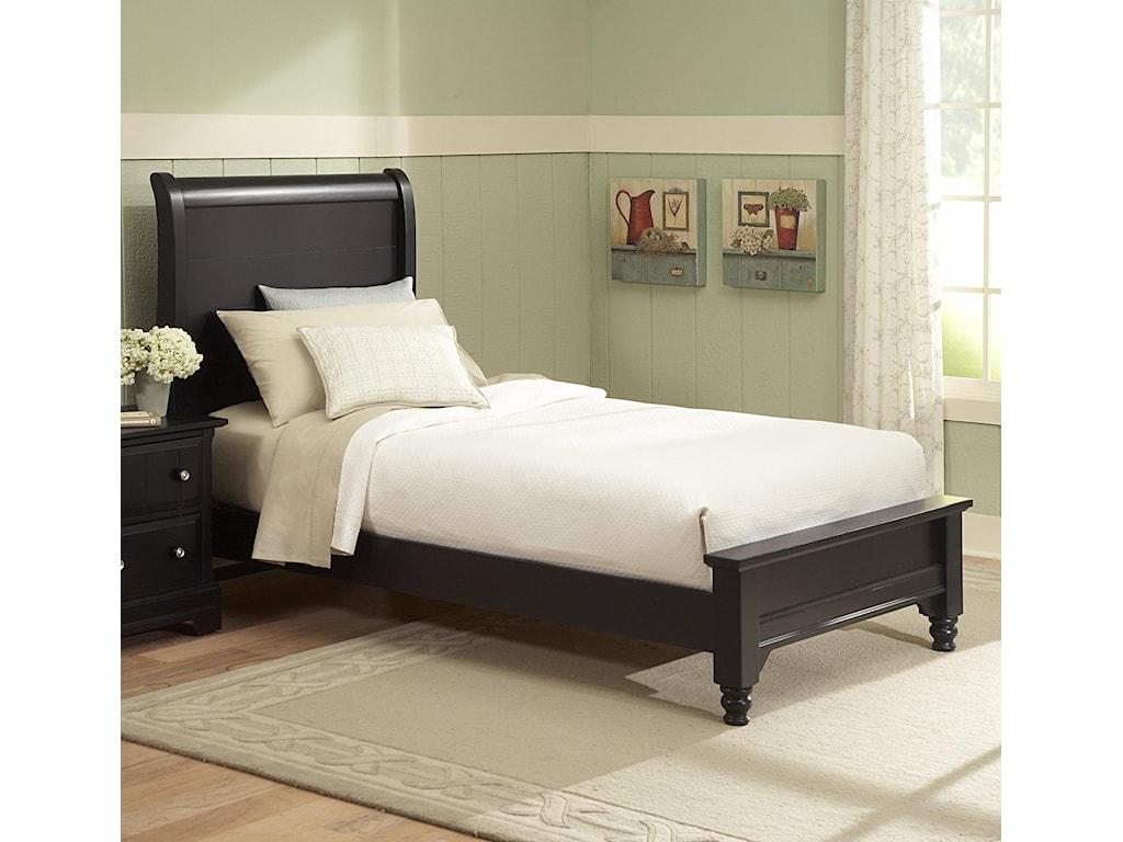 Vaughan Bassett CottageFull Sleigh Bed w/ Low Footboard