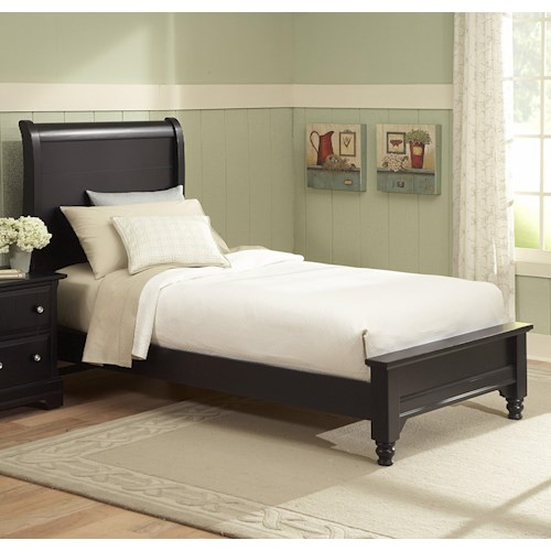 Vaughan Bassett Cottage King Sleigh Bed w/ Low Footboard