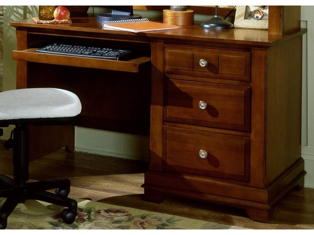 Vaughan Bassett CottageComputer Desk - 3 Drawers, Pull Out Tray