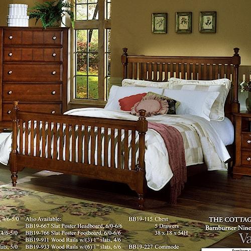 Vaughan Bassett Cottage California King Slat Poster Bed