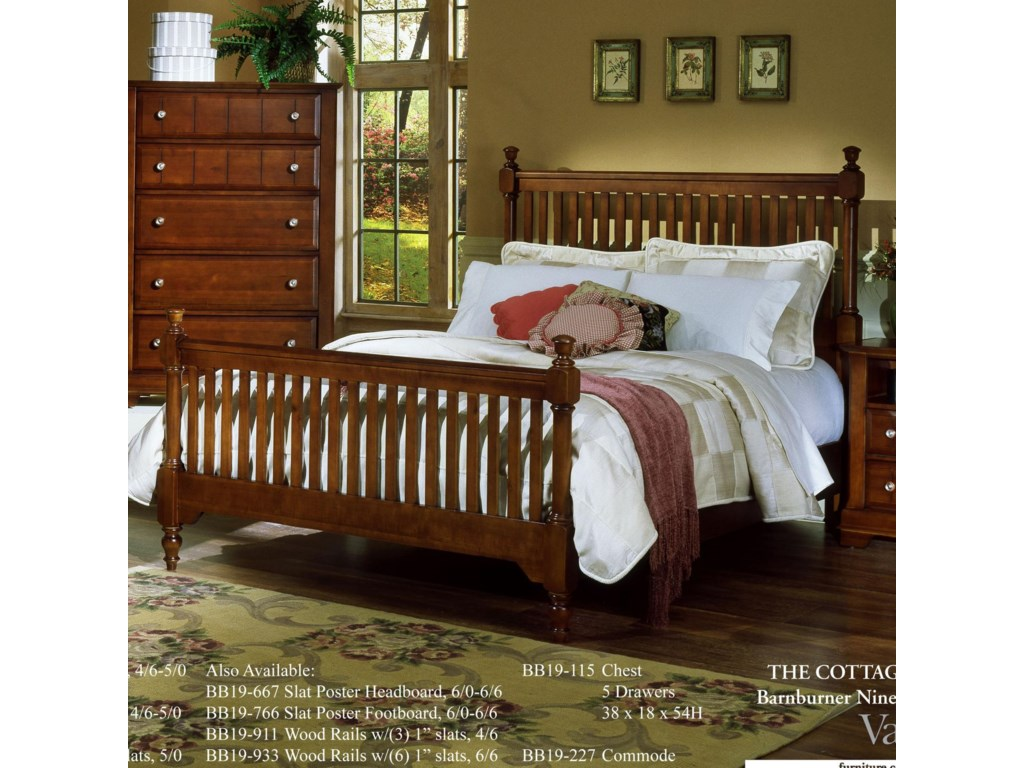 Vaughan Bassett CottageCalifornia King Slat Poster Bed