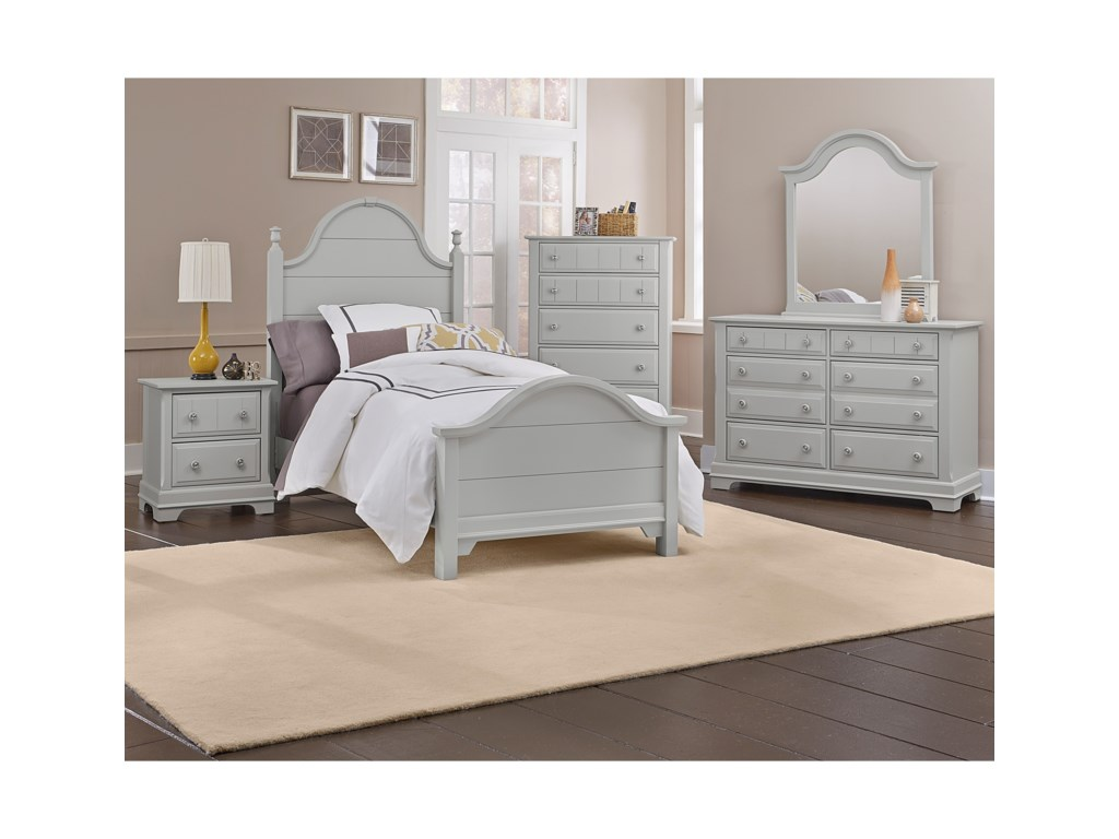 Vaughan Bassett CottageQueen Panel Bed