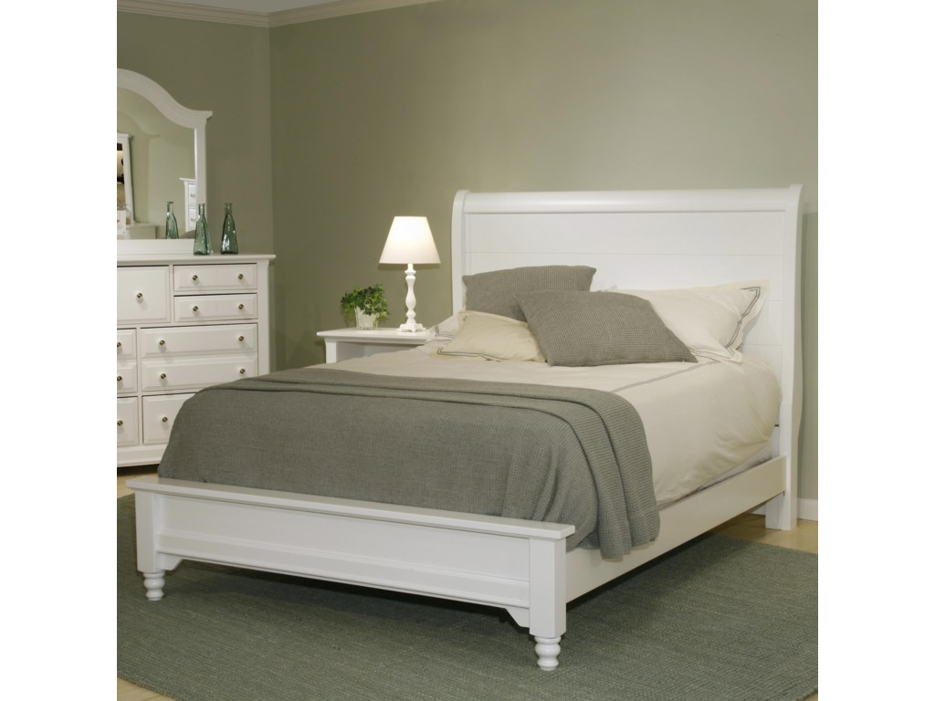 Vaughan Bassett CottageFull Sleigh Bed w/ Low Footboard