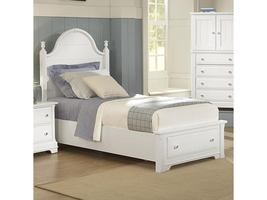 Twin Size Bed Shown. Queen Size Bed Has 2 Footboard Drawers.