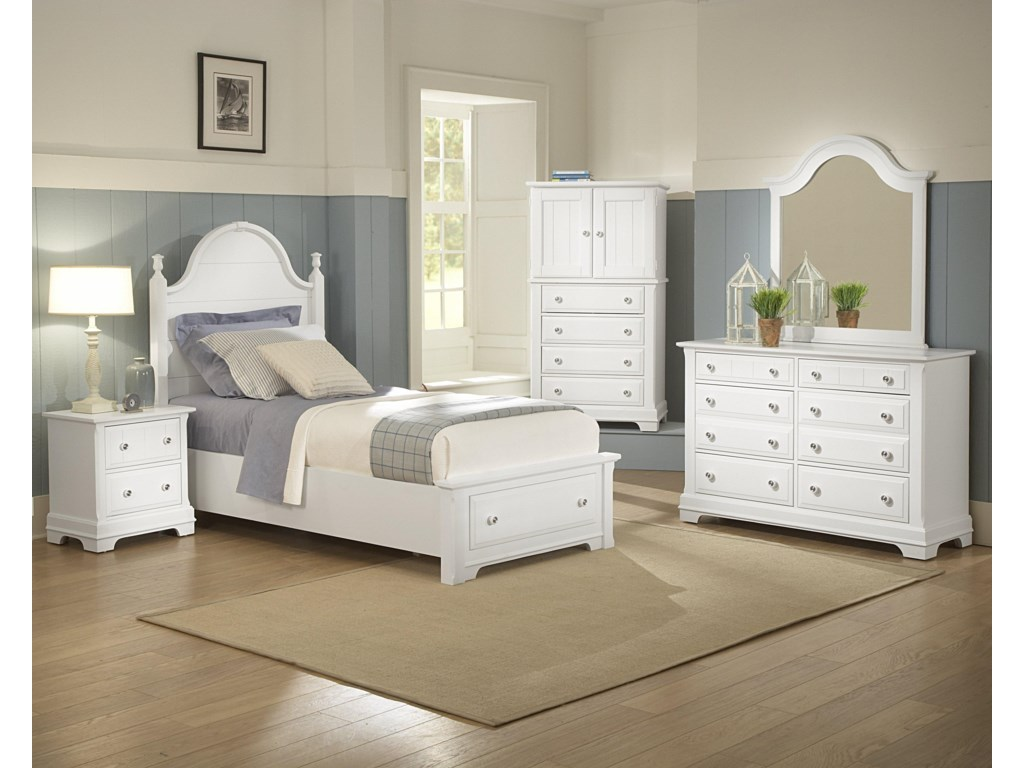 Shown with Night Stand, Vanity Chest, Dresser, and Mirror