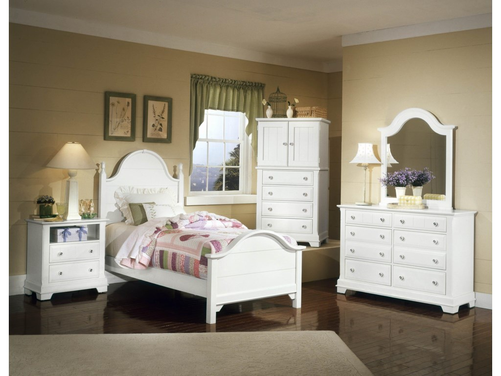 Shown with Nightstand, Panel Bed, Vanity, and Double Dresser