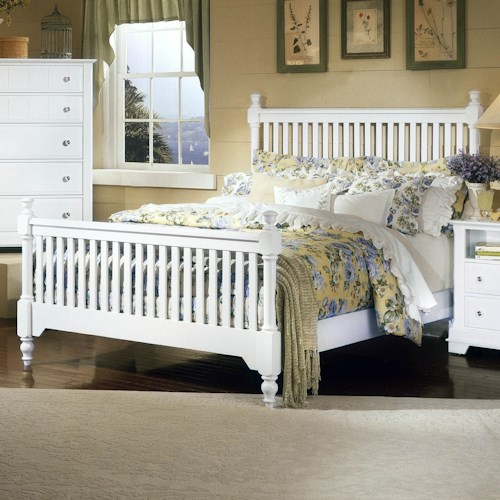 Vaughan Bassett Cottage King Slat Poster Bed