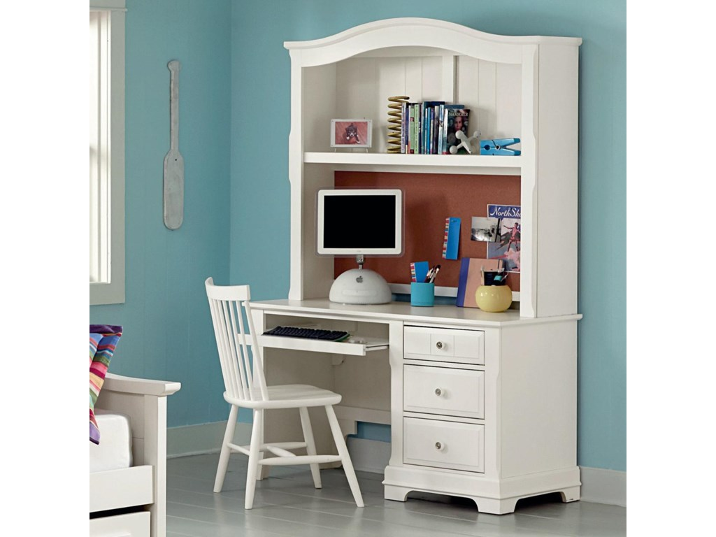 cottage leg white home leick drawer with turned center desk office product laptop