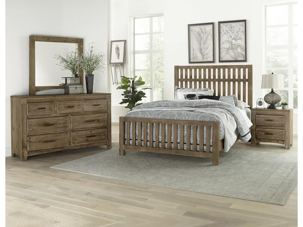 Vaughan Bassett Cottage TooQueen Slat Bed