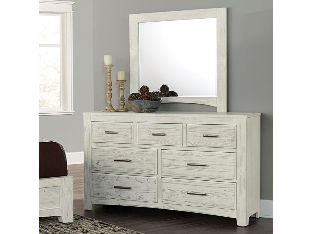 various colors f611b d40cd Cottage Too Vintage Seven Drawer Dresser and Mirror Set by Vaughan Bassett  at Hudson's Furniture