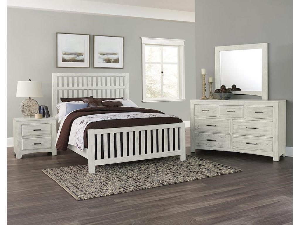 Vaughan Bassett Cottage TooQueen Slat Bed