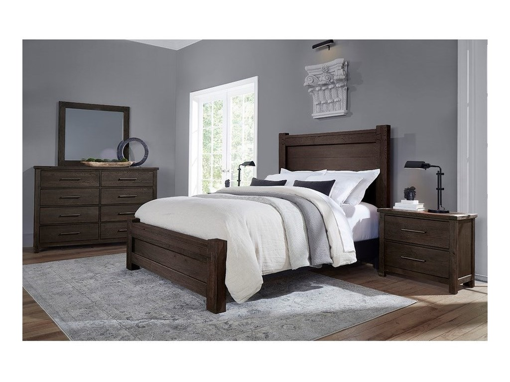 Vaughan Bassett Dovetail King Low Profile Bed