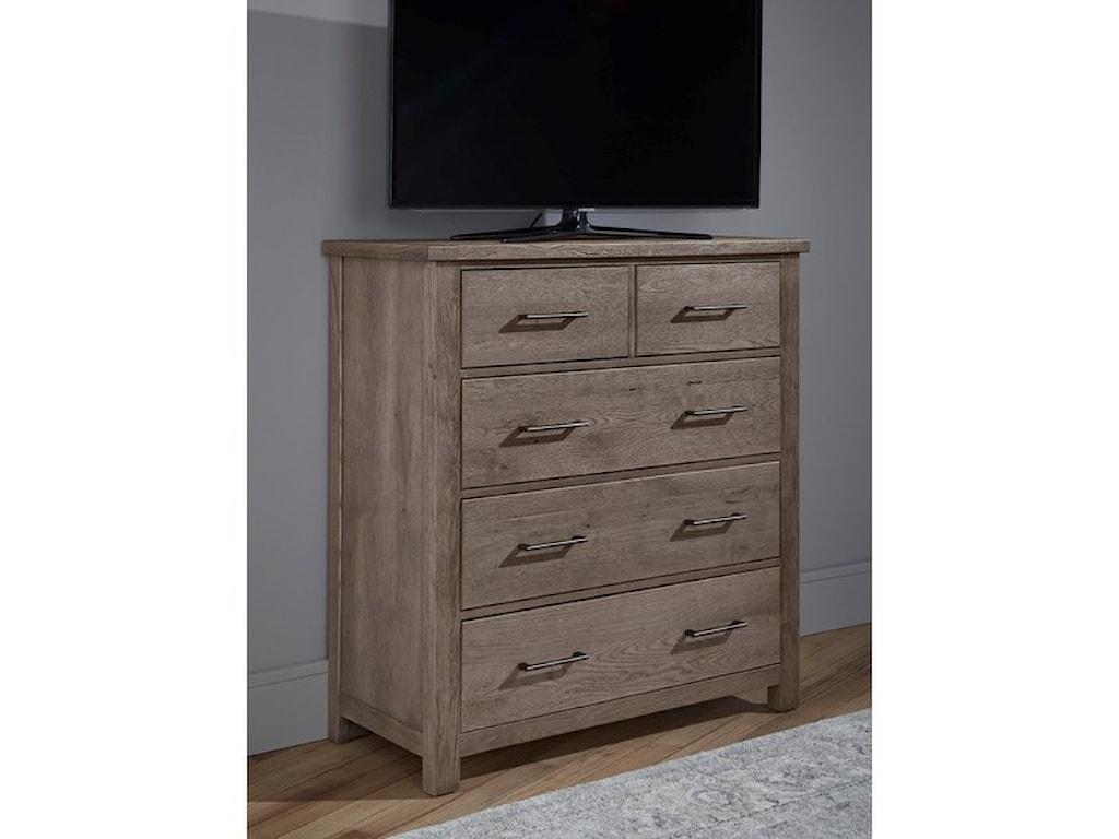Vaughan Bassett Dovetail5-Drawer Standing Dresser