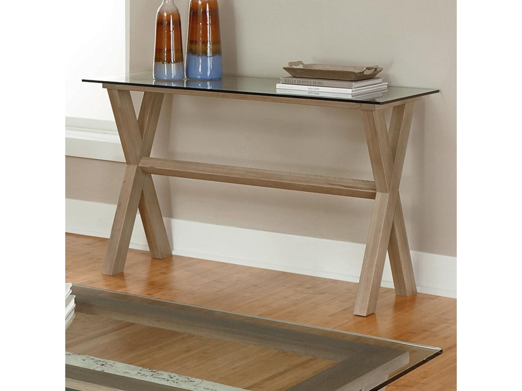 Vaughan Bassett ExcaliburSofa Table with Glass Top