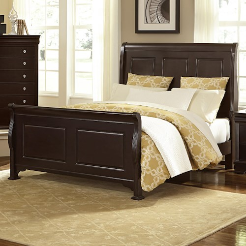 Vaughan Bassett French Market Transitional Queen Sleigh Bed