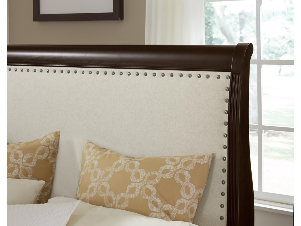 Vaughan Bassett French MarketQueen Bed w/ Upholstered Headboard