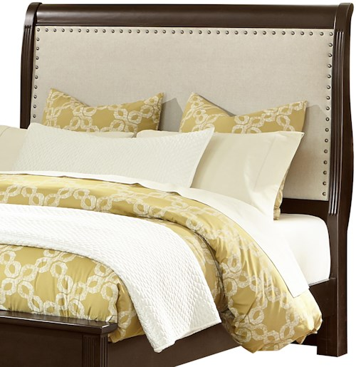 Vaughan Bassett French Market Queen Upholstered Headboard (Linen)