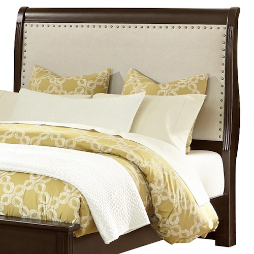 Vaughan Bassett French Market King Upholstered Headboard (Linen)