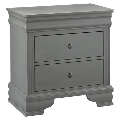 Vaughan Bassett French Market Louis Philippe Night Stand - 2 Drawers