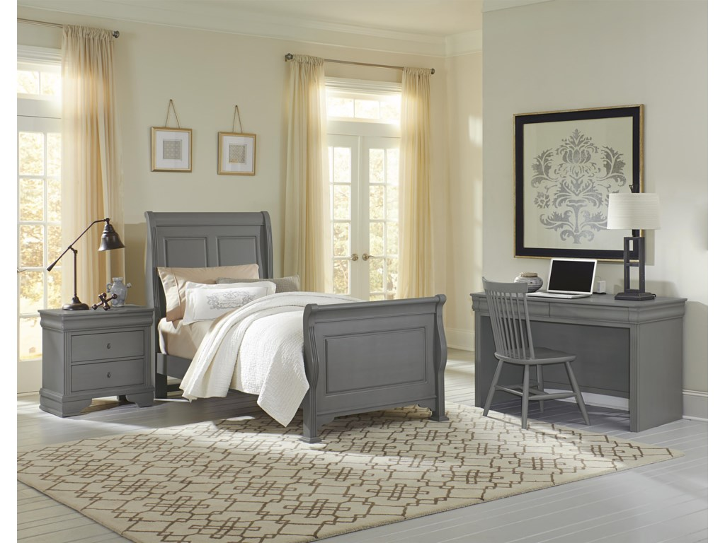 Vaughan Bassett French MarketTwin Sleigh Bed
