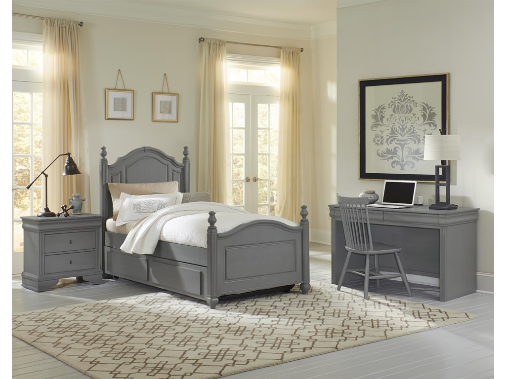 Vaughan Bassett French MarketTwin Poster Bed with Trundle