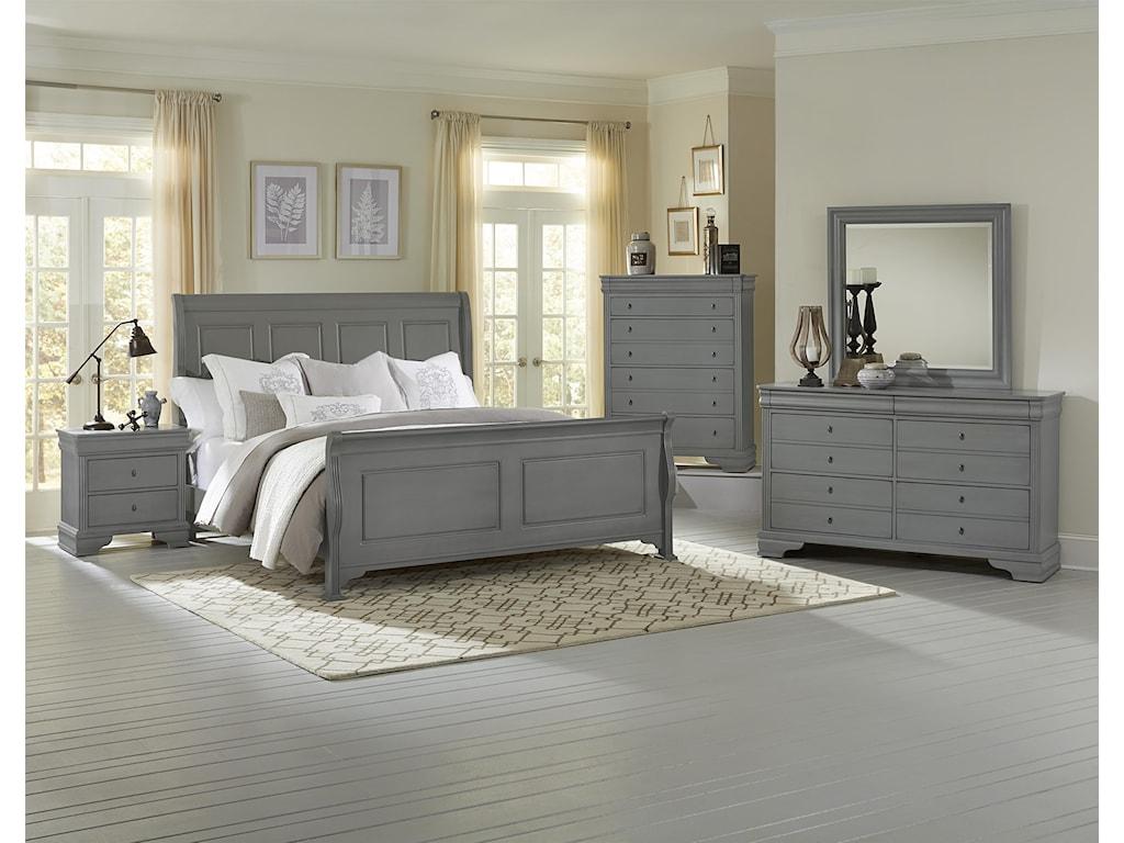 Vaughan Bassett French MarketFull Sleigh Bed