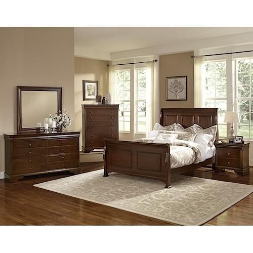 Vaughan Bassett French Market Full Bedroom Group