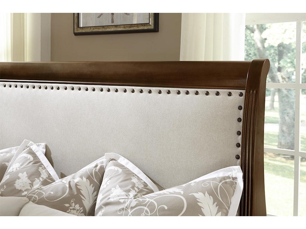 Vaughan Bassett French MarketTwin Upholstered Headboard (Linen)