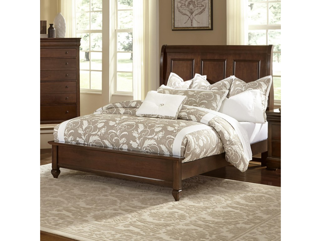 Vaughan Bassett French MarketQueen Bed w/ Sleigh Headboard & Low Ftbd