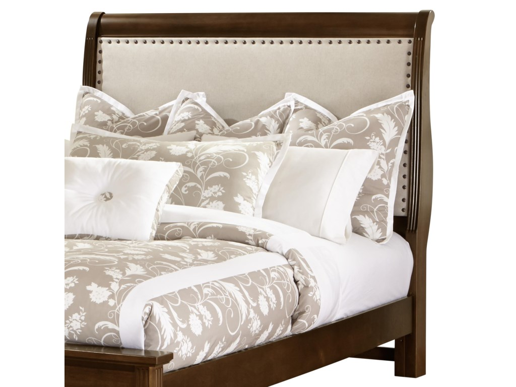 Vaughan Bassett French MarketFull Upholstered Headboard (Linen)