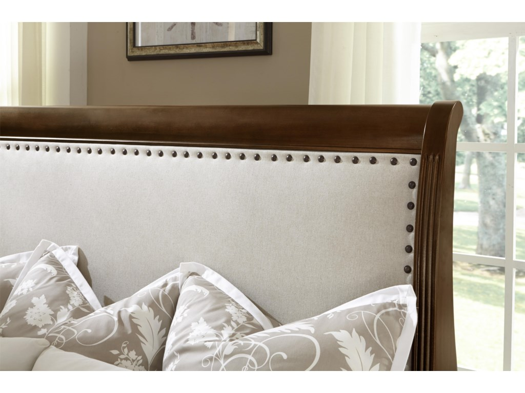 Vaughan Bassett French MarketKing Upholstered Headboard (Linen)